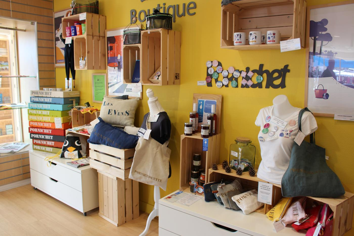 Boutique de l'office de tourisme de Pornichet